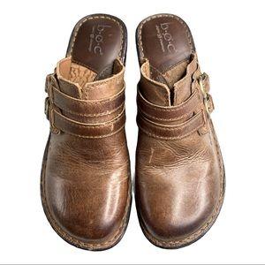 B.O.C. Born Concept Leather Clog Size 8 M/W